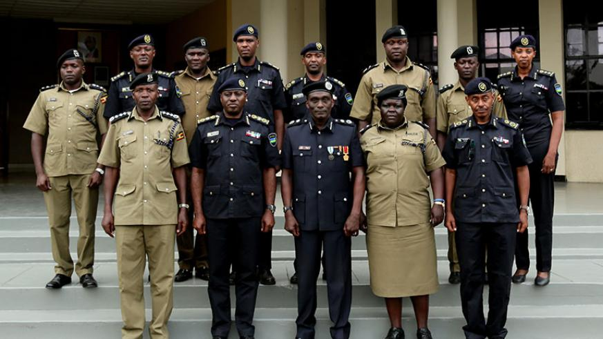 RNP and UPF delegations in a group photo after the bilateral meeting in Musanze District yesterday. / Courtesy