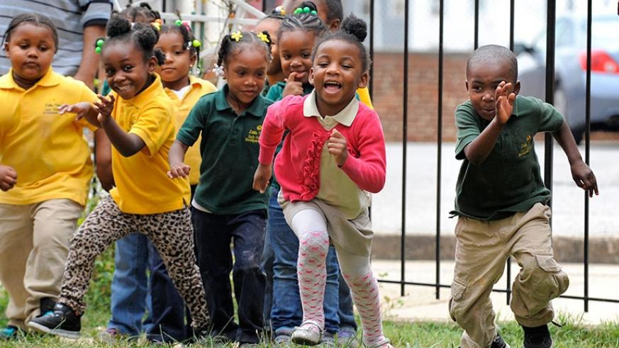 Children playing together. Telling the truth builds trust between people.