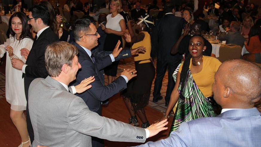 Guests take to the dance floor to celebrate Rwanda's Liberation Day in Turkey. / Courtesy