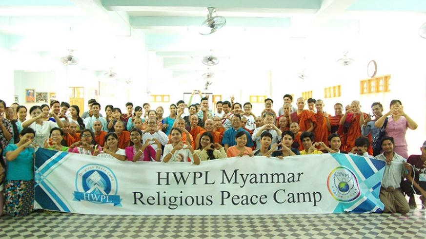 Participants in a group photo at University of Global Peace in Yankin Hill in Myanmar. courtesy
