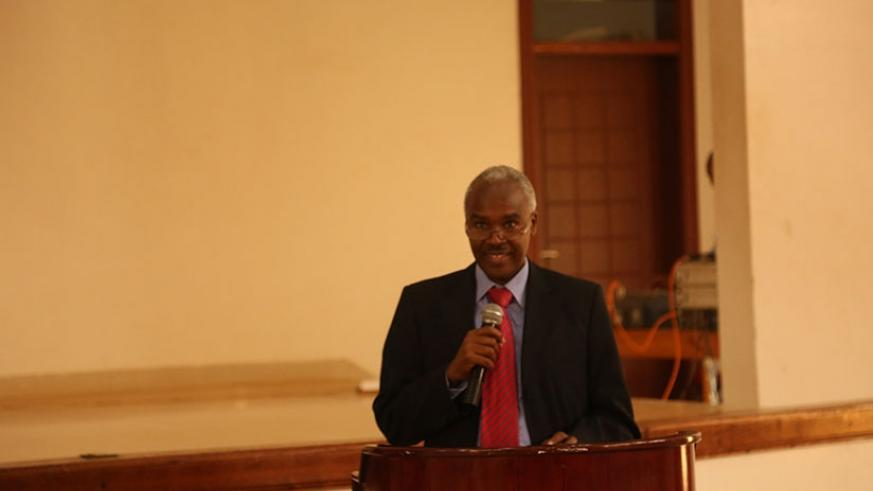 Dr Murigande speaks during the event.  (Michel Nkurunziza)
