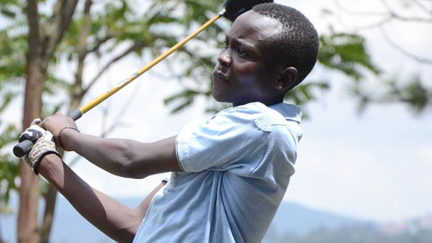 Celestin Nsanzuwera is one of the youngest members of the national golf team preparing for  this year's EA Golf Challenge in Dar es Salaam. (S. Ngendahimana)