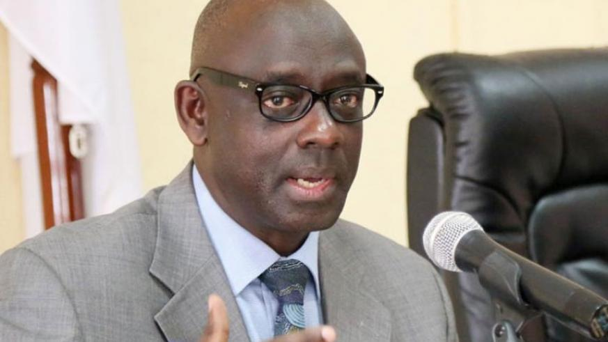 Minister Busingye speaks during a past event.  (File)