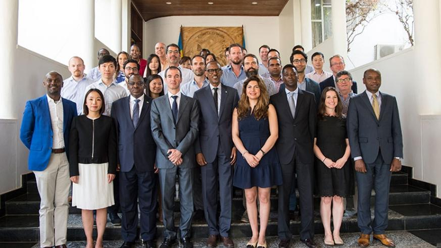 President Kagame meets a delegation from Pharo Management Company, a hedge fund that specialises in emerging markets. 