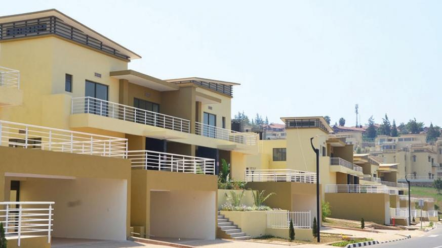 Some of the housing units that are on sale at Vision City in Kagugu, Kigali. File.