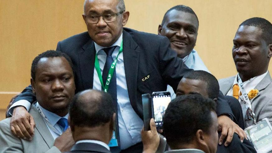 Madagascar FA chief Ahmad Ahmad was elected president of the CAF, ousting veteran leader Issa Hayatou after 29 years in office. Net photo