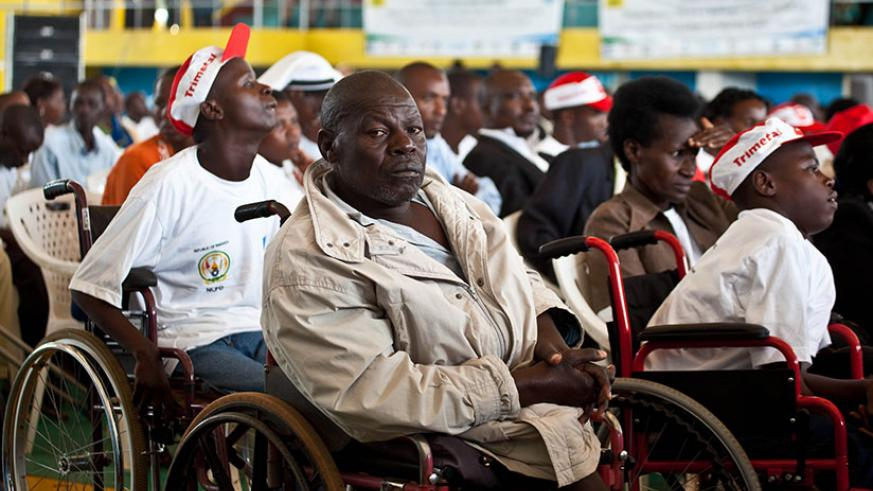 People with disability during a past event in Kigali. / File