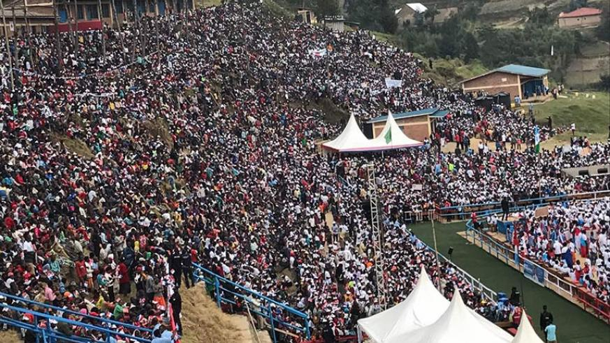 Thousands of RPF-Inkotanyi supporters attended Paul Kagame's rally in Nyabihu District (Courtesy photos)