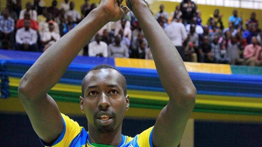 Pierre Marshal Kwizera has announced his retirement from international volleyball. (Photos by Sam Ngendahimana)