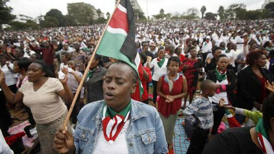 Kenyans pray for peace as elections draw closer. Net.