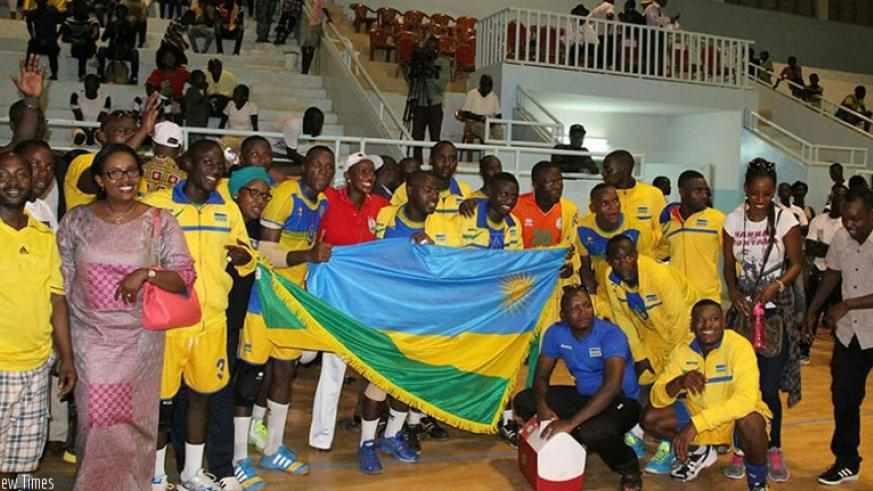 Rwandans living in Senegal join celebrations with the team after Tuesday's win against Madagascar. (Courtesy)