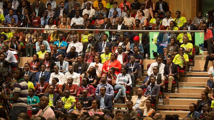 Participants during the YouthConnekt Africa Summit 2017 in Kigali last month. Timothy Kisambira.