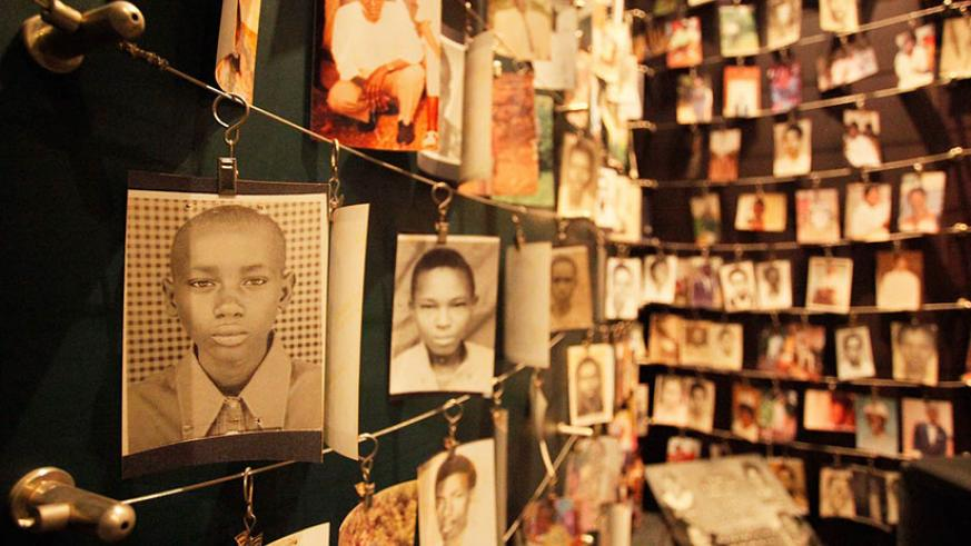 Photos of some of the victims of the 1994 Genocide against the Tutsi at the Kigali Genocide Memorial. / File
