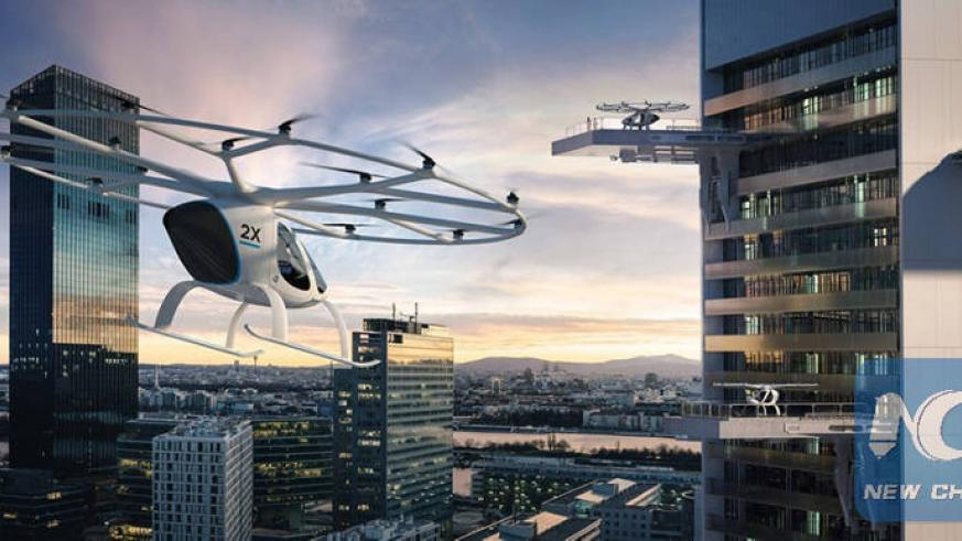 The Dubai Media Office tweeted a series of photos of the world's first automated aerial taxis. / Courtesy: Dubai Media Office