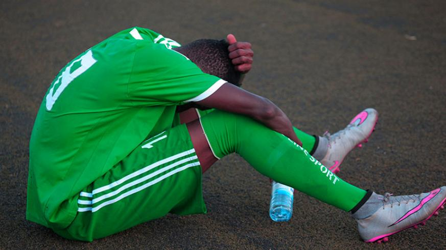 It was a heartbreaking moment for Kiyovu players as they failed to save the sleeping giants from relegation on the final day of the season. / Sam Ngendahimana