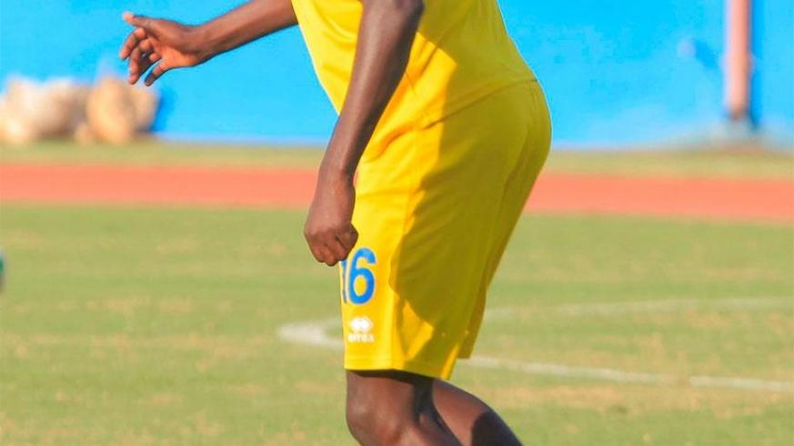 Sugira, seen here during a past training session, joined Amavubi residential camp on Monday morning. S. Ngendahimana.