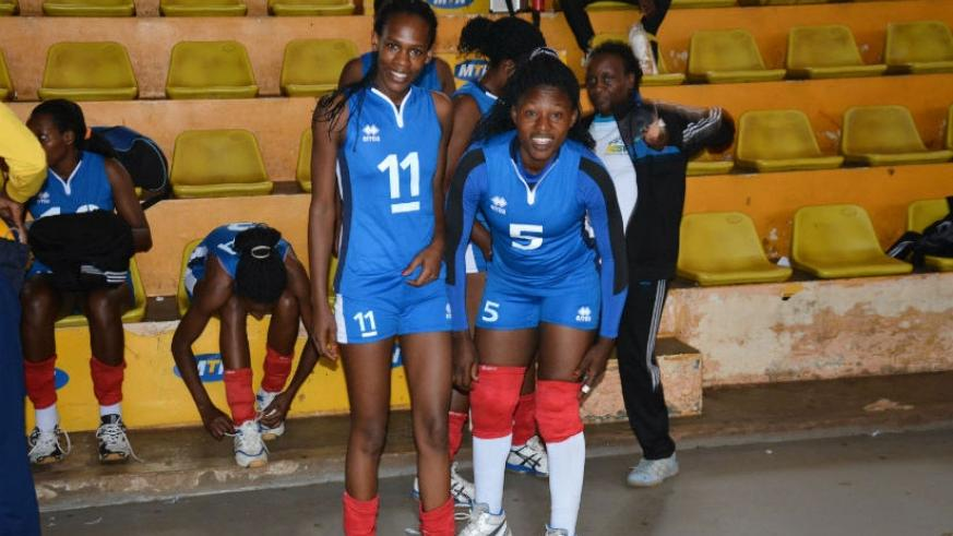 Left and right attackers Charlotte Nzayisenga and Judith Hakizimana will lead RRA n the KAVC memorial tourney. Courtesy