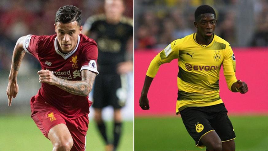 Barcelona said they are close to signing Liverpool's Philippe Coutinho and Ousmane Dembele from Borussia Dortmund. / Internet photo
