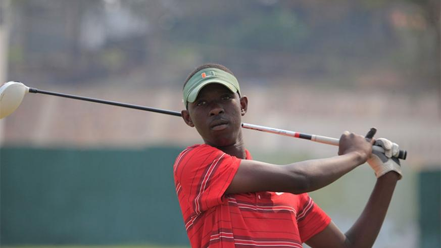 Emmanuel Nkurunziza, at 17 years, is the youngest on the Rwandan team for this year's regional golf challenge. S. Ngendahimana