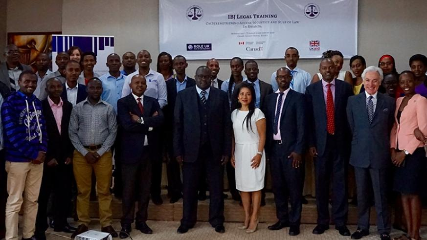 Participants pose for a group photo after the two-day training on Tuesday in Kigali. Julius Bizimungu.