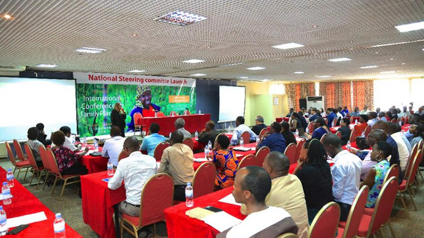 Participants follow proceedings at the launch of the national steering committee in Kigali last week. / Lydia Atieno