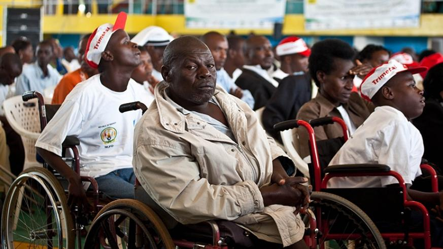 Some of the disabled people during a past event in Kigali. File.