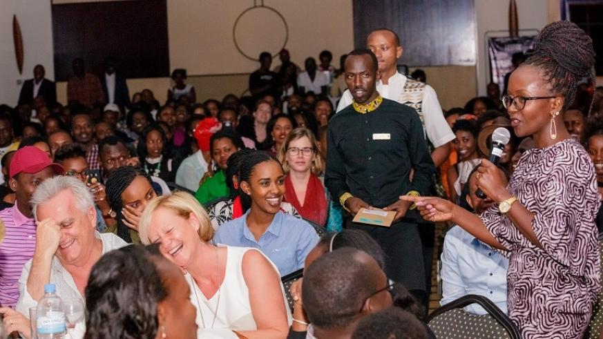 The Ugandan comedian took time off to mingle and interact  with the audience