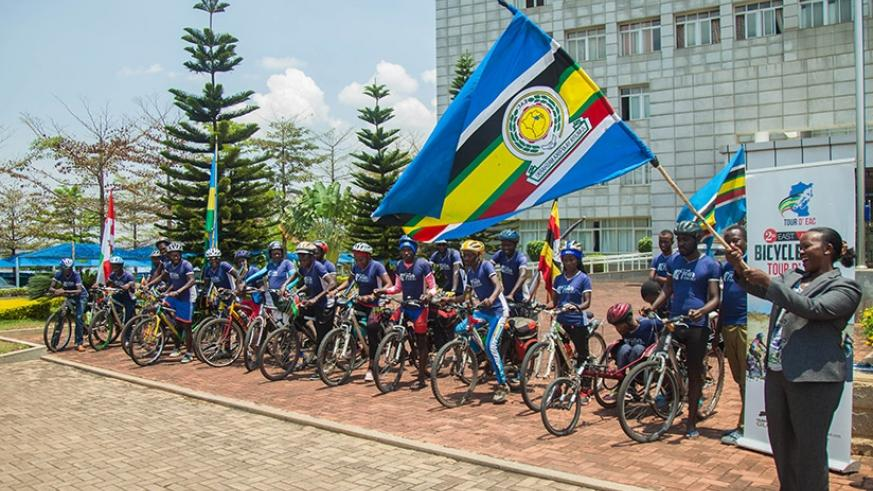 Cyclists in EAC integration awareness drive | The New Times