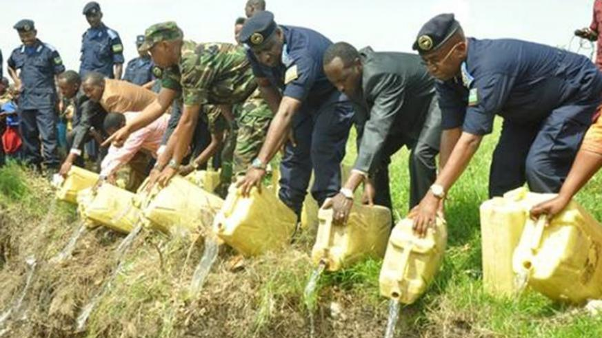 Police destroy illicit liquors and other drugs in a past operations. Drug abuse can lead to depression. File.