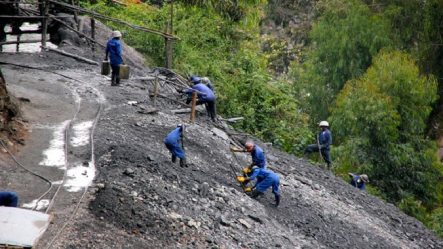 Miners in Ngororero Distict. COMESA trading bloc has been urged to harmonise trade policies. / File