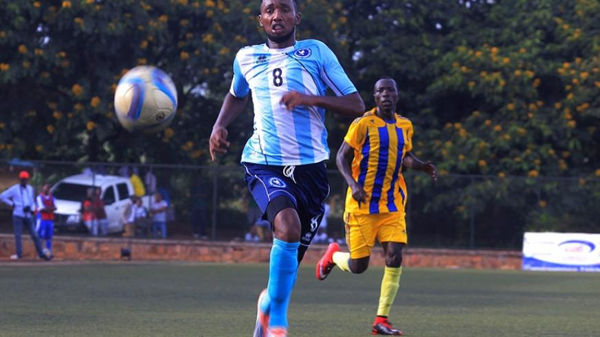 Police FC striker Justin Mico seen in action before he picked up an injury last month. (Sam Ngendahimana)