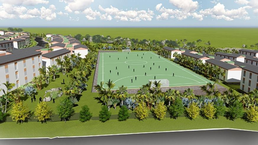 An artistic impression of the newly planned settlement in Busanza in Kanombe Sector, Kicukiro District where the people who will be relocated from Kangondo neighbourhood in Nyaruta....