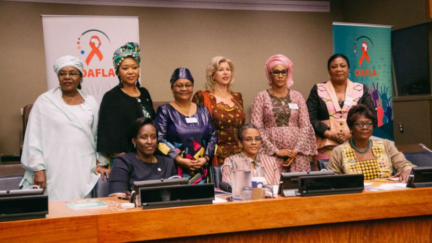 First Lady Jeannette Kagame joins fellow African First Ladies for the OAFLA high-level meeting held on the margins of the 72nd UN General Assembly in New York. / Courtesy