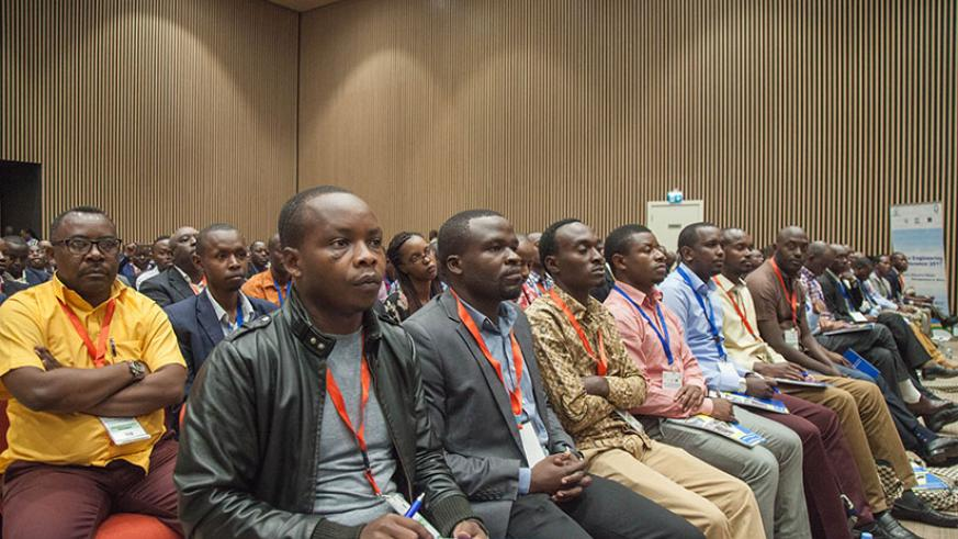 Participants follow proceedings during the official opening of the African Engineering Conference in Kigali yesterday. (Nadege Imbabazi)