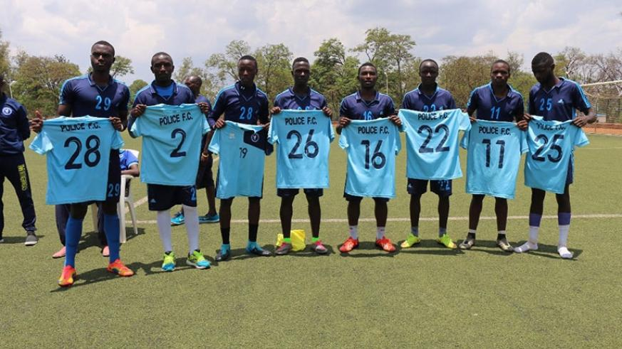 Police FC unveiled seven new players on Thursday at Kicukiro Stadium. Police will start the new season facing Etincelles on Saturday. Courtesy.