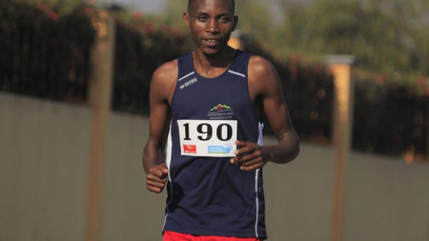 Rwanda's long distance runner Athlete Felicien Muhitira won this year's 98th edition of Sedan-Charleville race in France on Sunday. / Sam Ngendahimana