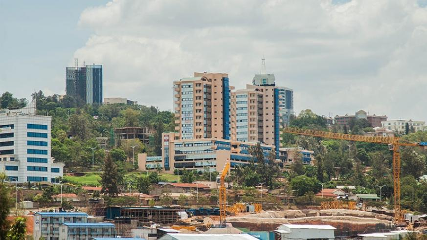 A view of the former Kiyovu cy'Abakene neighbourhood, that's now part of the Central Business District. / Nadege Imbabazi