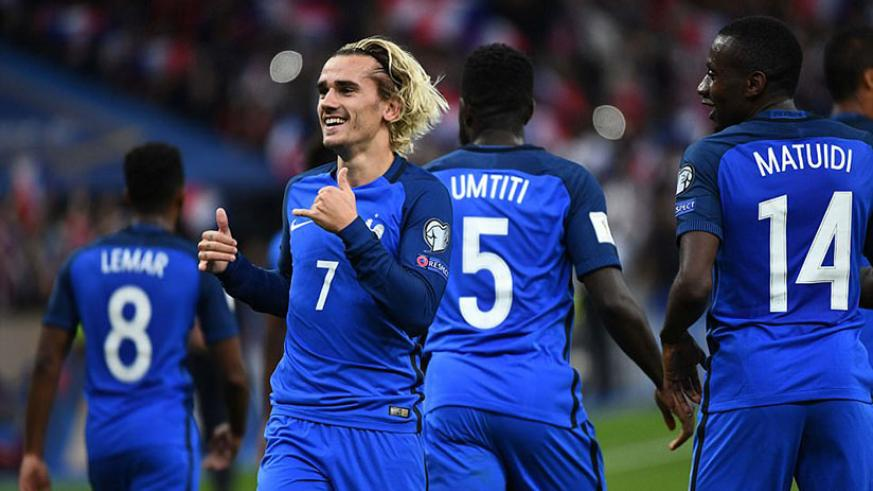 Antoine Griezmann set France on their way to the 2018 World Cup in a must win game by scoring the opener against Belarus. / Internet photo