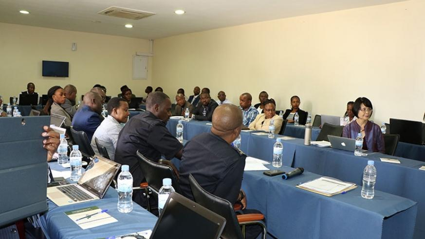 Participants during the meeting in Kigali yesterday.  (Courtesy)