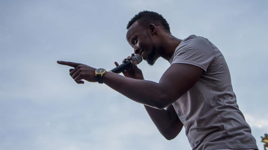 Meddy during his performance in Huye district last weekend. Courtesy
