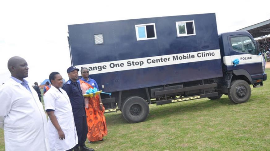 Isange One Stop Centre mobile clinic during a past tour of the country. File.