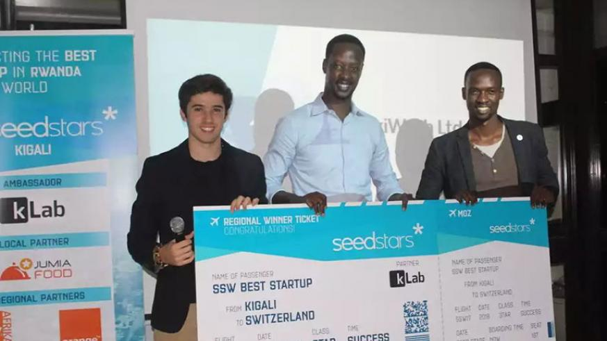 Kanamugire, founder of Pikiwash was announced the winner of the Seedstars Rwanda competition. / Courtesy