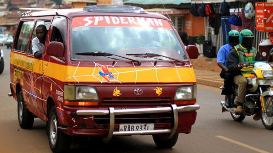 'Twegerane' mini buses which were phrased out a few years ago. / File