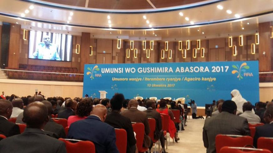 Participants at the Kigali Convention Center during the Tax Appreciation Day.