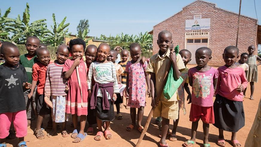 Children play together. When everyone is equal, it means we all have the chance to learn and grow and go to school. Let's all work together for equality in our country! (UNICEF Rwa....