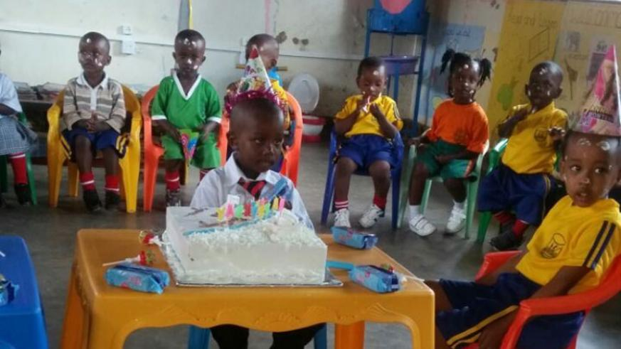 Celebrating a birthday at school is always fun and exciting. An ideal child loves sharing. (Dennis Agaba)