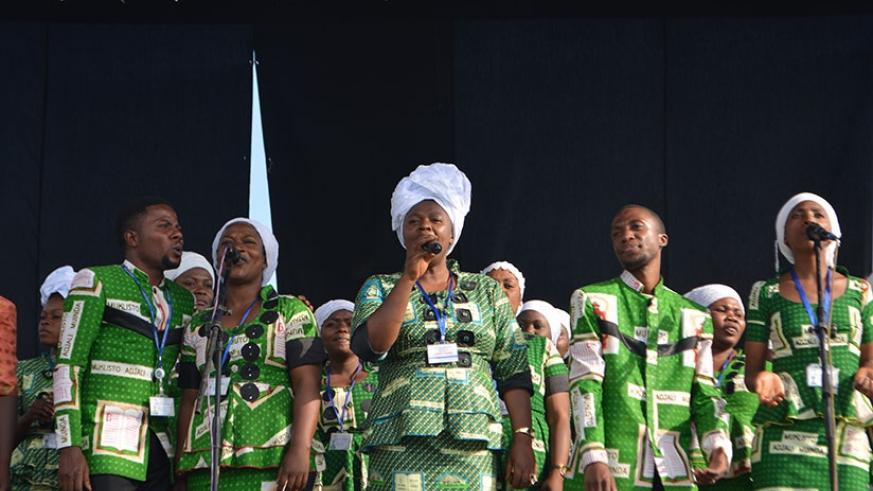 One of the choirs from Goma that performed at the festival.  (Photos by F. Byumvuhore)