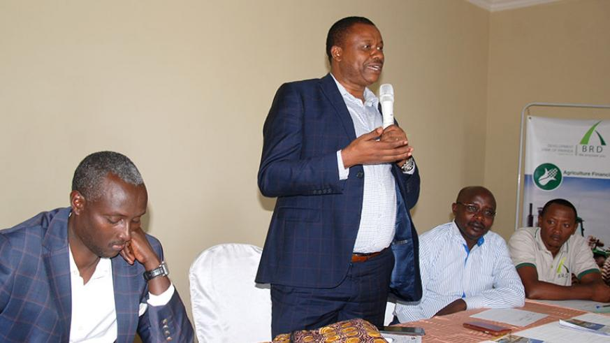 Dr Byamungu explains to Bugesera investors the details of the investment fund and key priority sectors. (Courtesy)