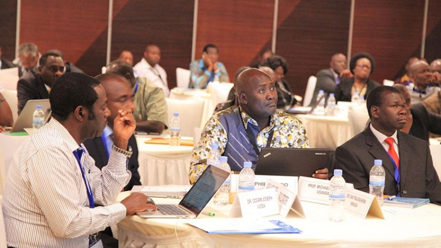 Experts from Southern and Eastern African countries at the meeting in Kigali on Wednesday. S. Ngendahimana.