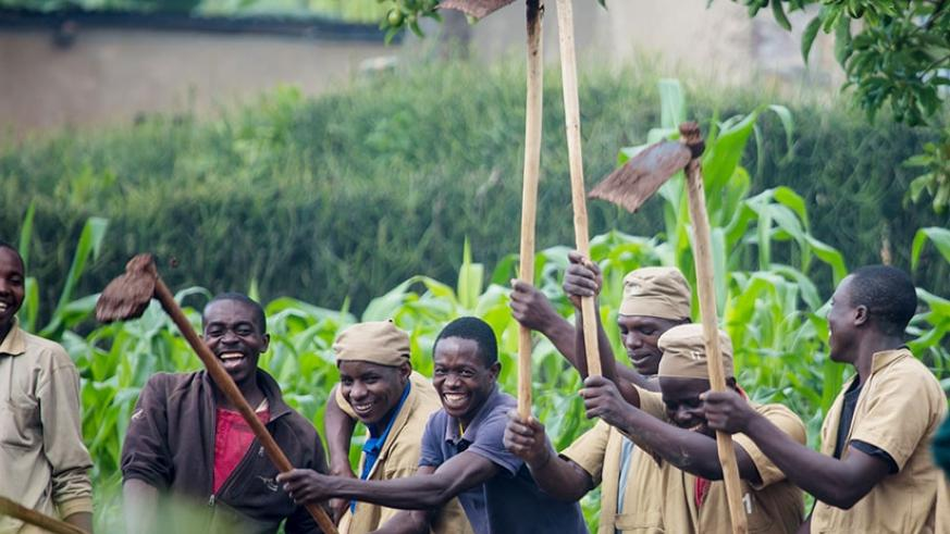 Residents of Kayonza participate in Umuganda. The monthly voluntary community work is one of the homegrown approaches credited for helping turn around Rwanda. File.
